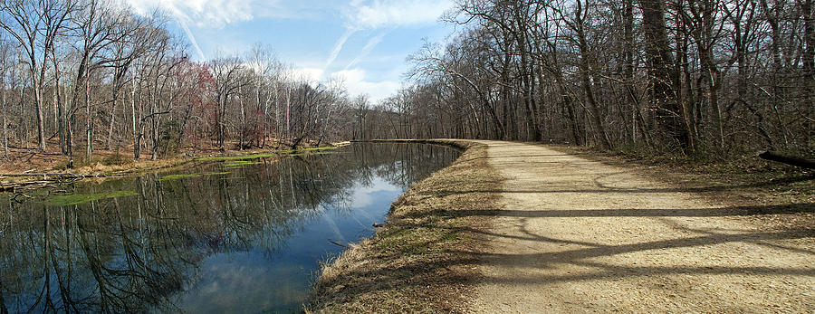 Great Photograph - Canal And Towpath - Great Falls Park - Maryland by Brendan Reals