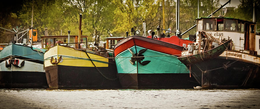 Amsterdam Photograph - Canal Boats by Jill Smith