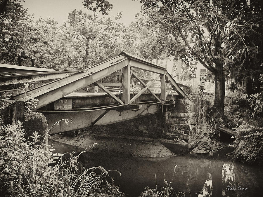 Canal Photograph - Canal Bridge At Washingtons Crossing by Bill Cannon
