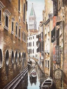 Canal Del Lovo Painting by Michael Neamand