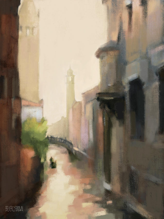 Venice Painting - Canal Dorsoduro Venice by Beverly Brown
