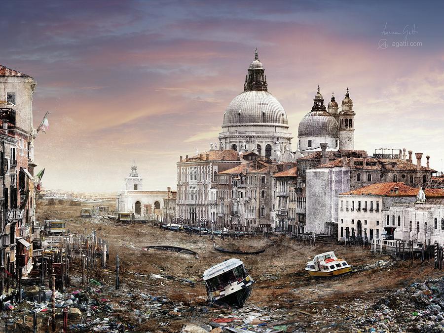 Rubbish Digital Art - Canal Grande by Andrea Gatti