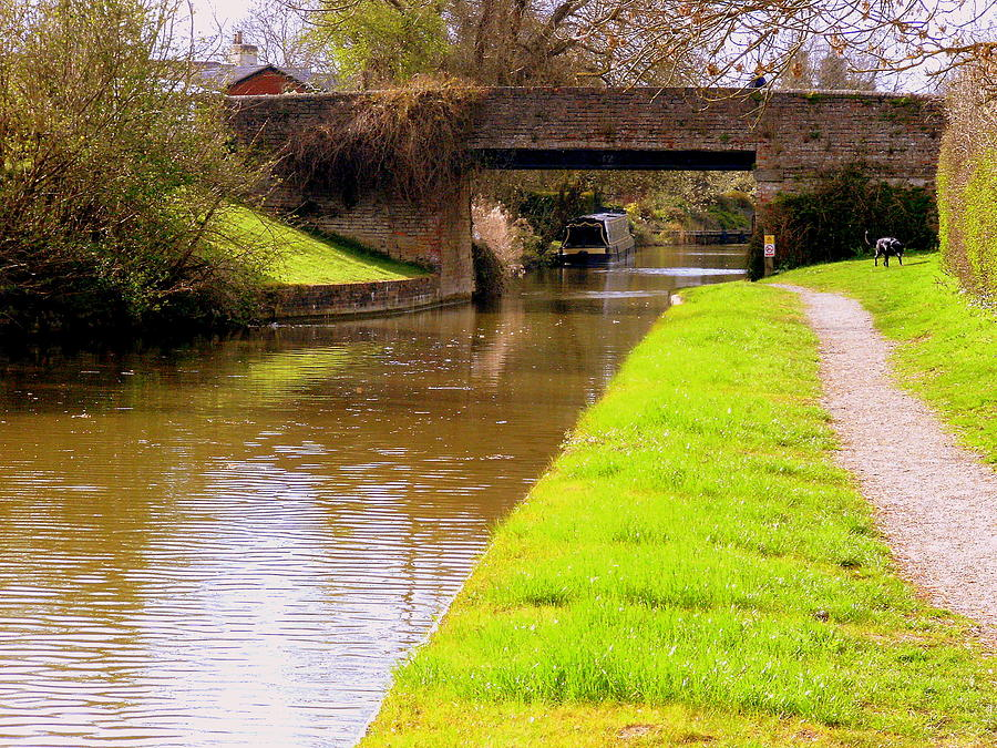 Canal Photograph - Canal In Oxford England by Mindy Newman