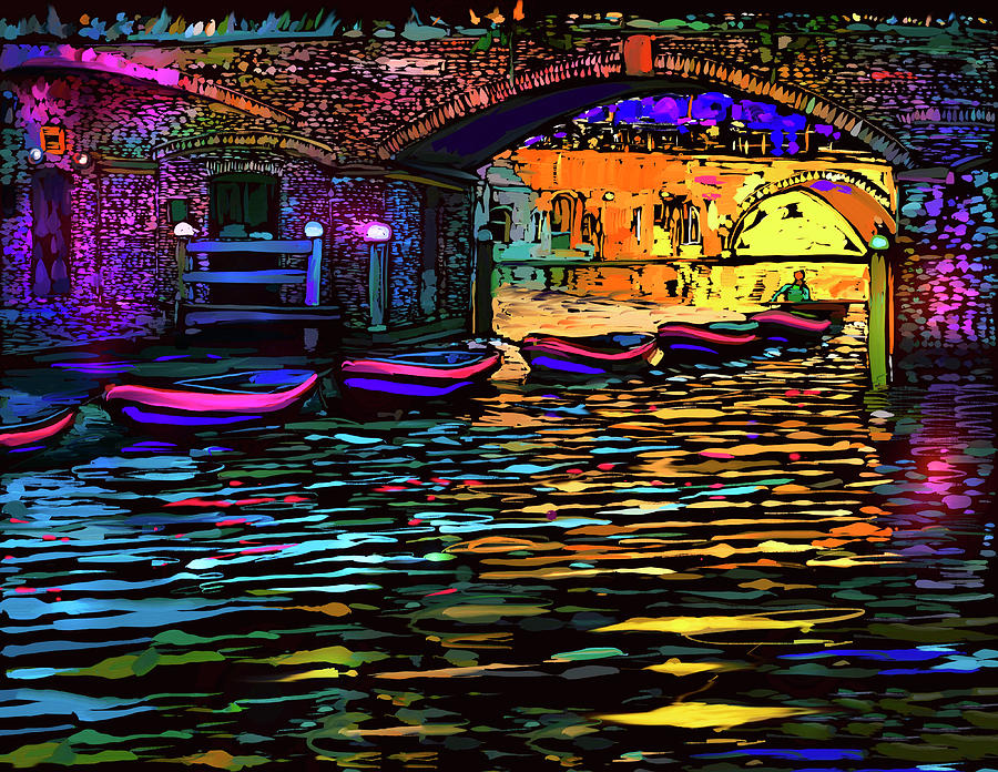 Canal In Utrecht, Netherlands Painting