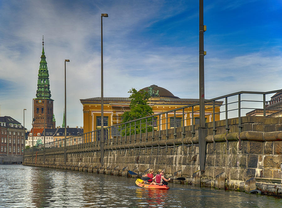 Canal Kayaking in Copenhagen by Mick Burkey