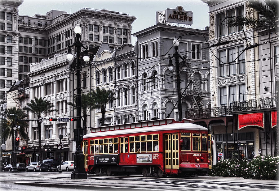 Nola Photograph - Canal Street Trolley by Tammy Wetzel