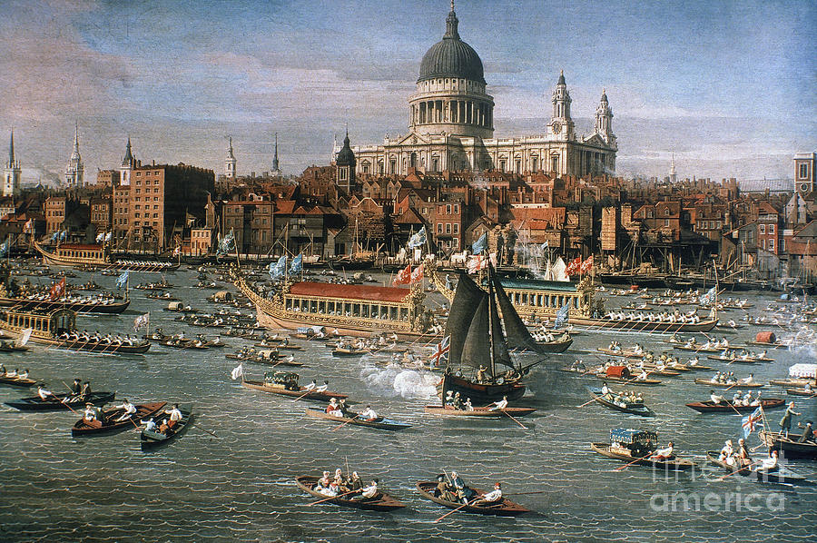 18th Century Photograph - Canaletto: Thames, 18th C by Granger