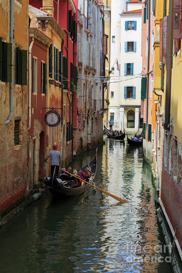Canals Photograph - Canals Of Venice Italy by Louise Heusinkveld