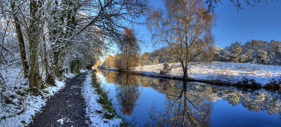 Canal Photograph - Canalside Winter Wonderland by Philip Brown