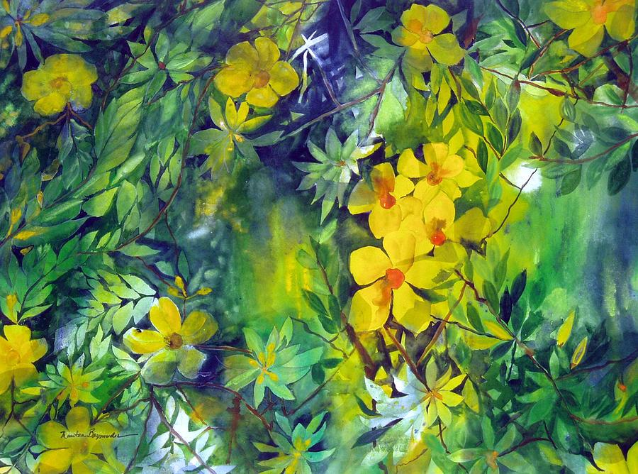 Tropical Plant Painting - Canarias by Maritza Bermudez