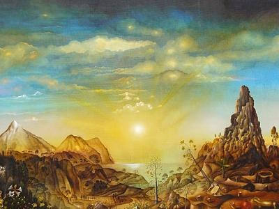 Tenerife Painting - Canarie Landscape by Horst Loewel