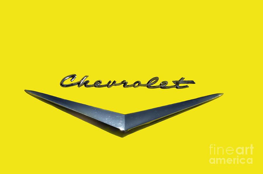 Car Photograph - Canary Yellow Chevrolet  by Andrea Kollo