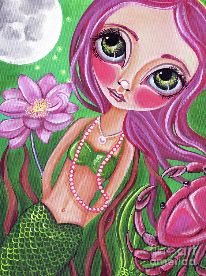 Mermaid Painting - Cancer - Zodiac Mermaid by Jaz Higgins