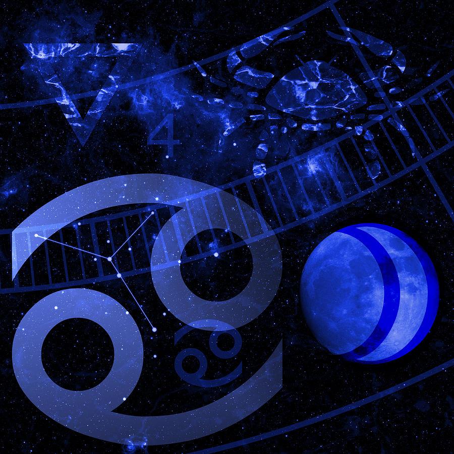 Horoscope Digital Art - Cancer by JP Rhea