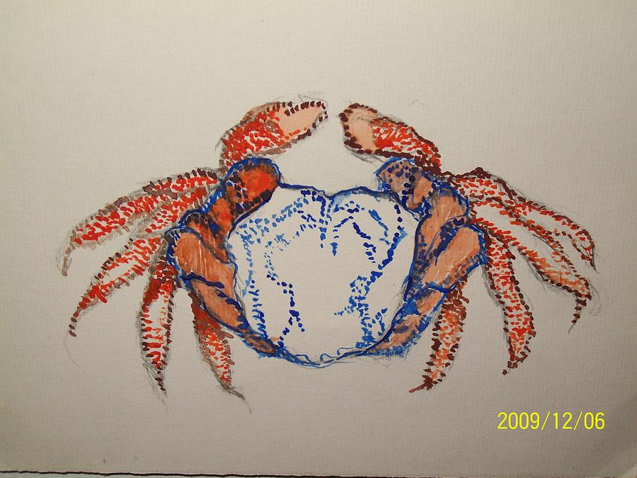 Crab Painting - Cancer The Crab by Nancy Caccioppo