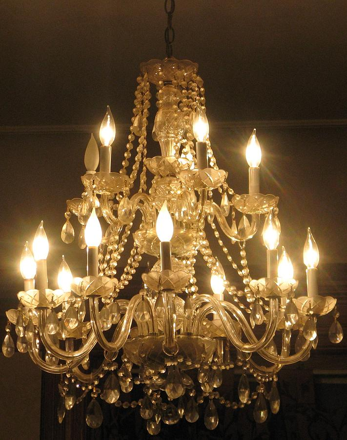 Interiors Photograph - Candelabra Chandelier by Hasani Blue