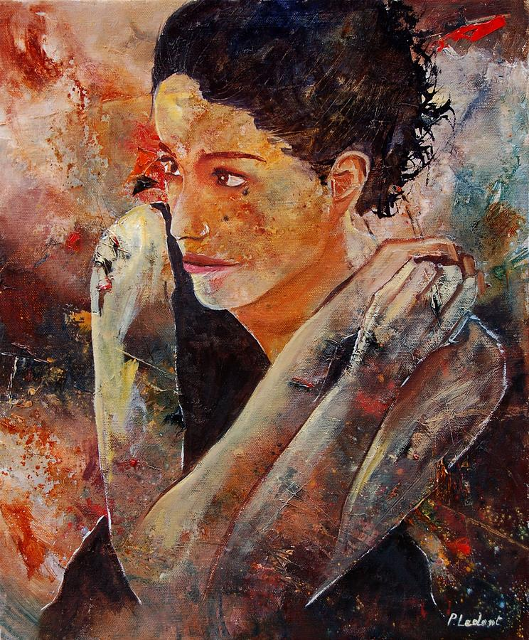 Figurative Painting - Candid Eyes by Pol Ledent