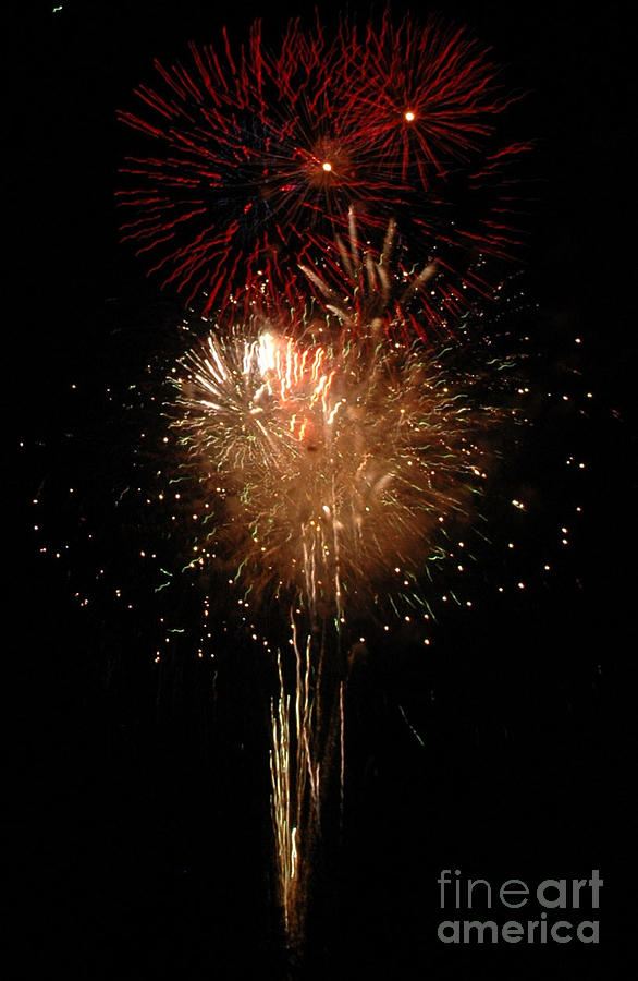 4th Of July Photograph - Candle Burst by Norman Andrus