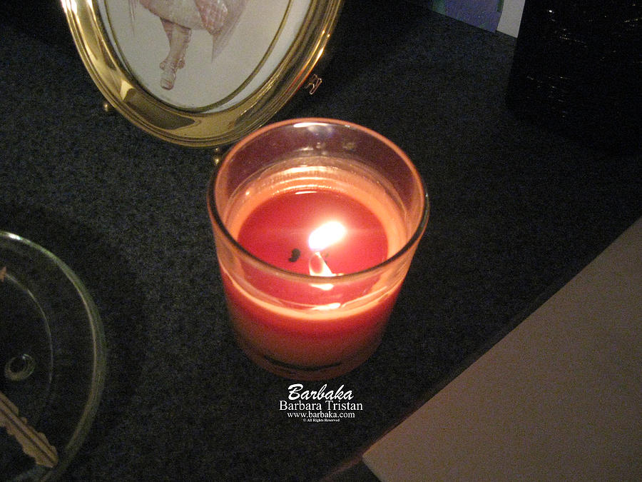 Creative Energy Photograph - Candle Inspired #1173-1 by Barbara Tristan