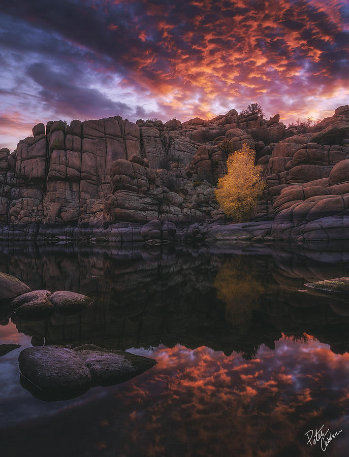 Watson Lake Photograph - Candle Lit Lake by Peter Coskun