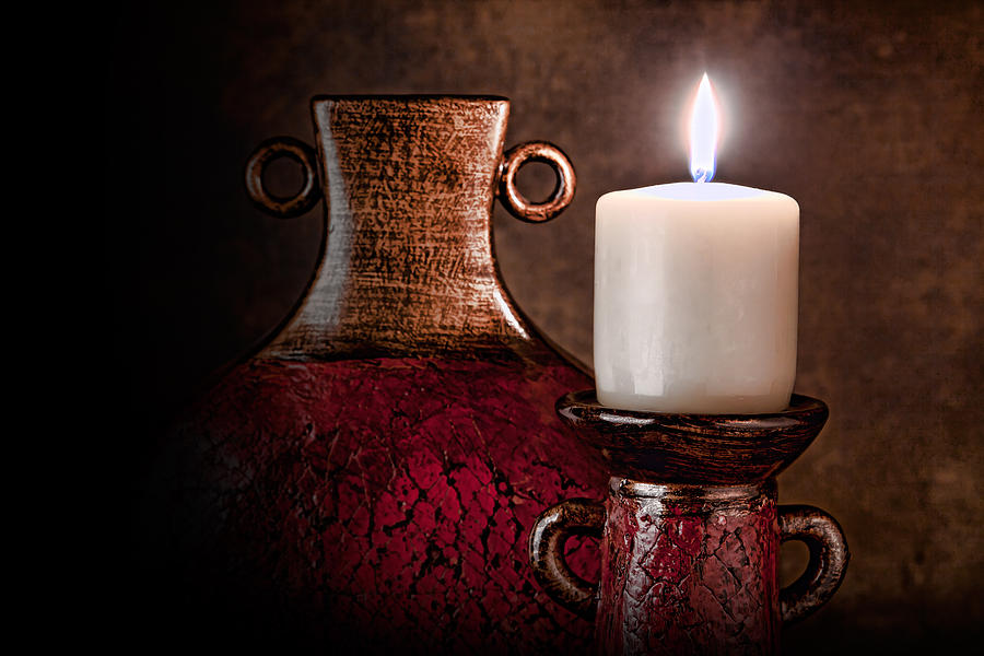 Candle Photograph - Candle by Tom Mc Nemar