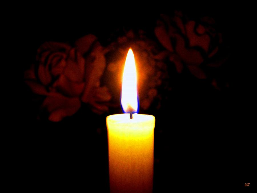 Candle Photograph - Candlelight And Roses by Will Borden