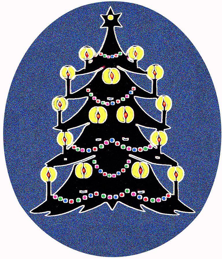 Christmas Digital Art - Candlelit Christmas Tree by Nancy Mueller