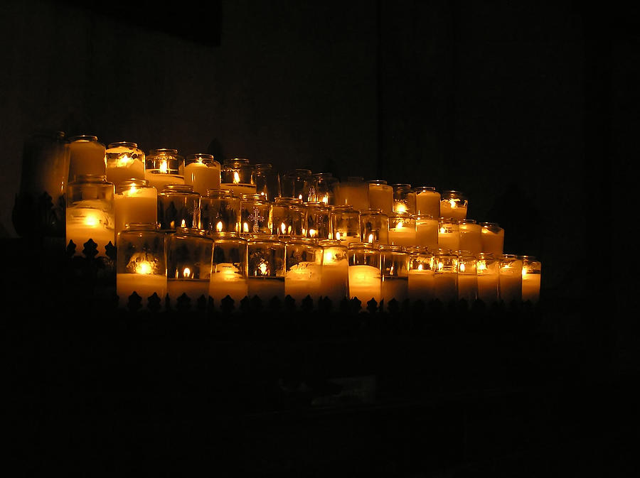 Candles In The Chapel At Mission San Luis Rey Photograph by Chuck Cannova
