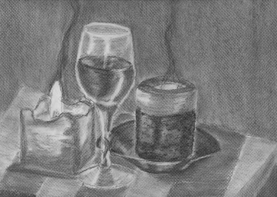 Candle Drawing - Candles In The Night by Alina Lucasciuc