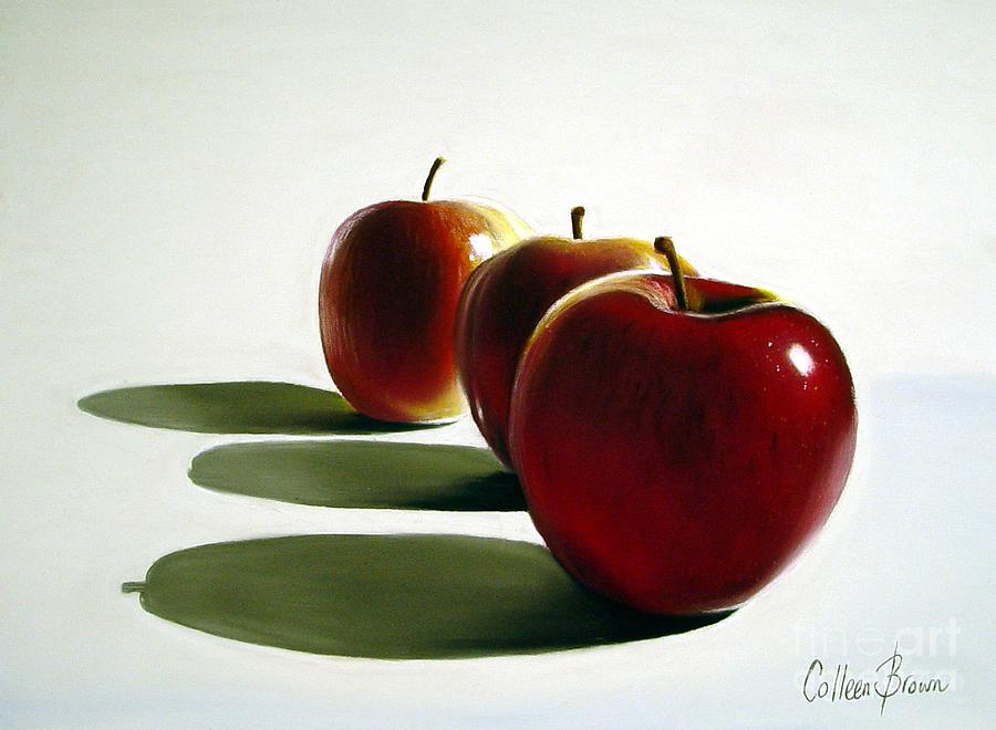 Still Life Painting - Candy Apple Red by Colleen Brown