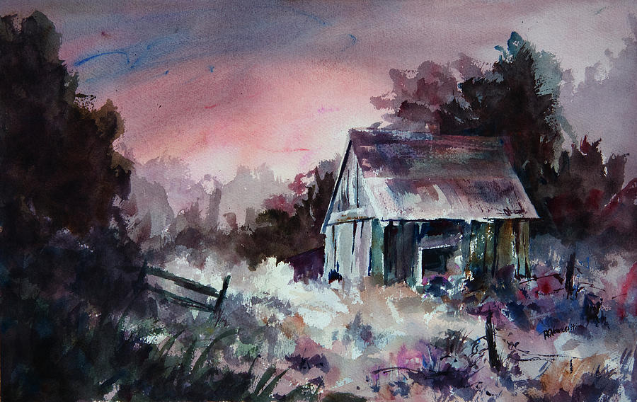 Shack Painting - Candy Cane by William Russell Nowicki