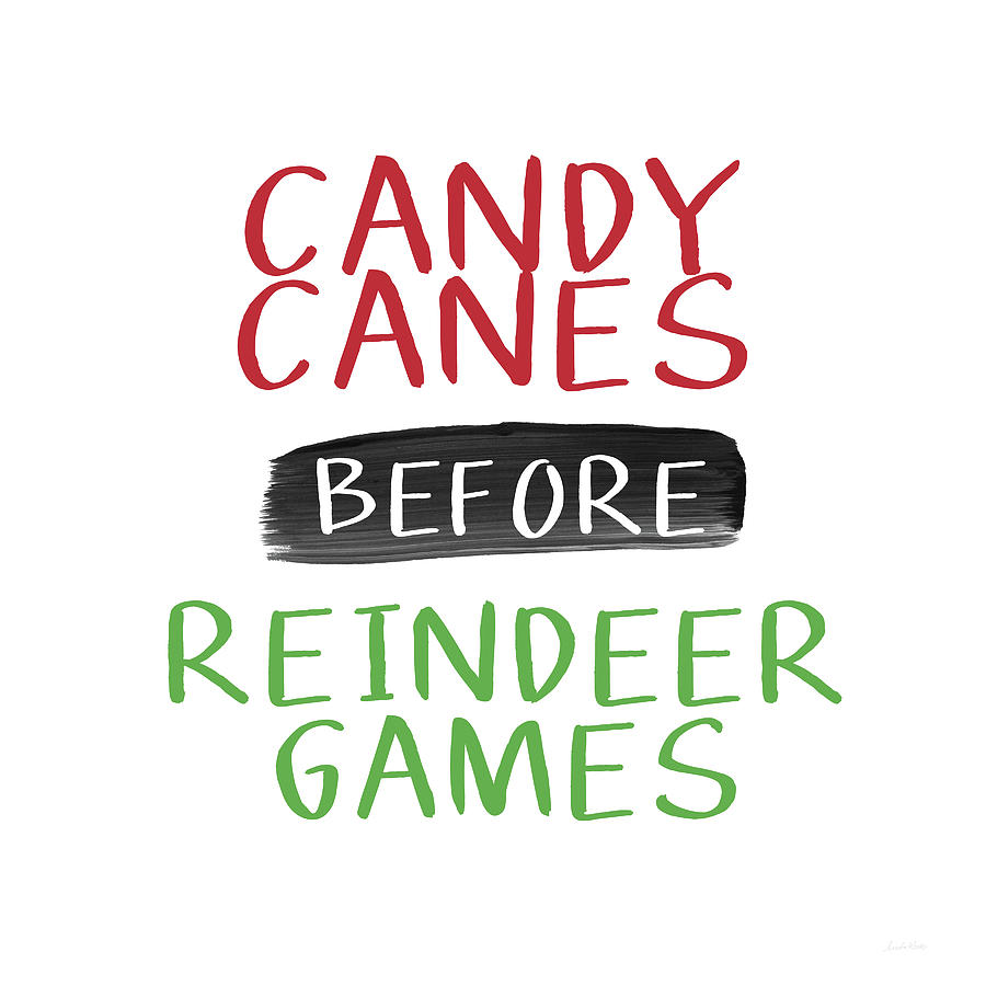 Candy Canes Digital Art - Candy Canes Before Reindeer Games- Art By Linda Woods by Linda Woods