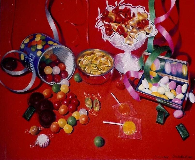 Red Pastel - Candy by Constance Drescher