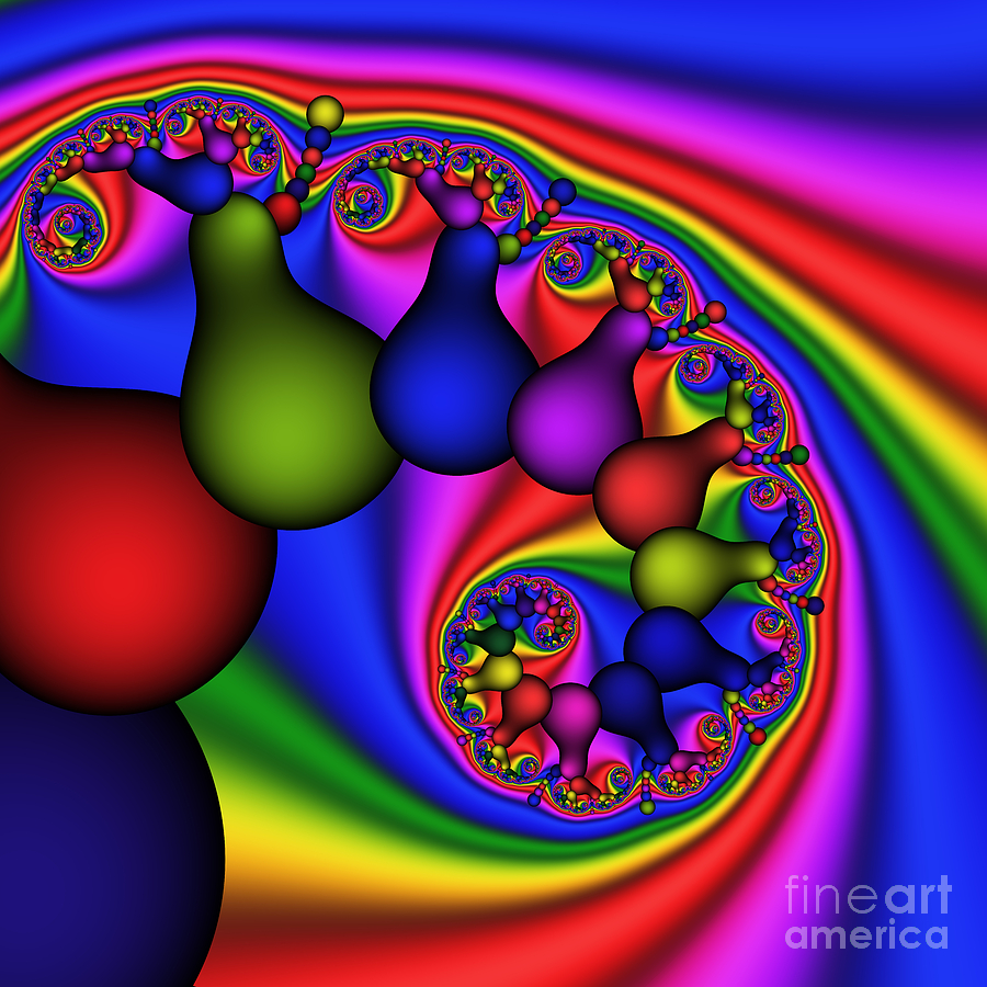 Abstract Digital Art - Candy Light Bulbs 170 by Rolf Bertram