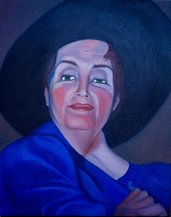 Portrait Painting - candy  Portrait Of Margaret L. Degan by Stephen Degan