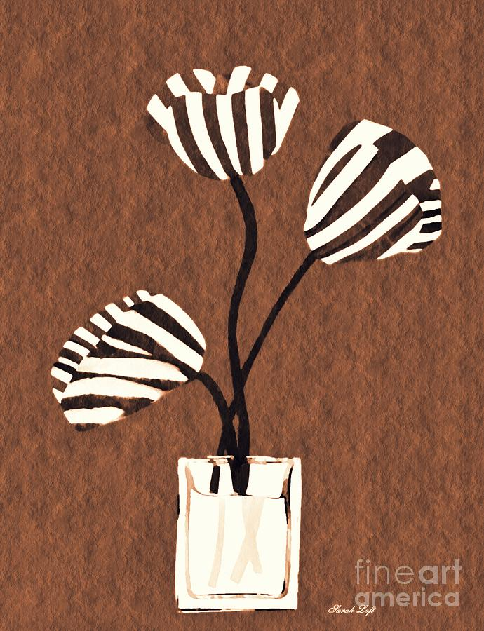 Tulip Mixed Media - Candy Stripe Tulips 3 by Sarah Loft