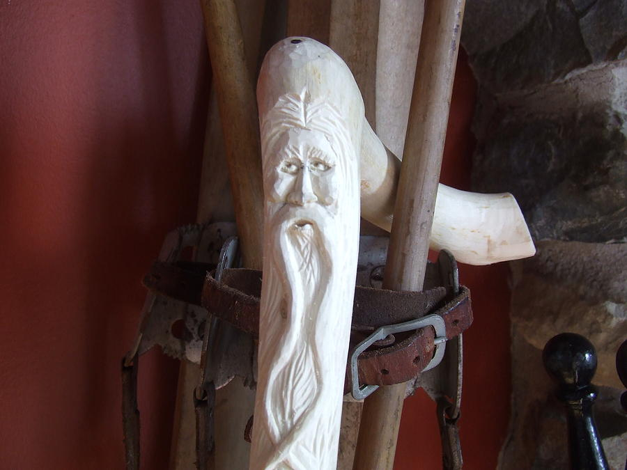Cane Sculpture - Cane Wood Spirit by Scott Ritchie