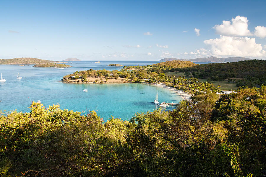 Anchorage Photograph - Caneel Bay Panorama by George Oze
