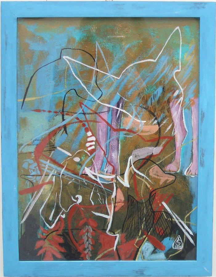 Composition Painting - Canes Urbis by Luminita Gliga