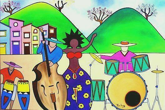 Canja De Rua Painting by THAIS IBANEZ  Tropical Art