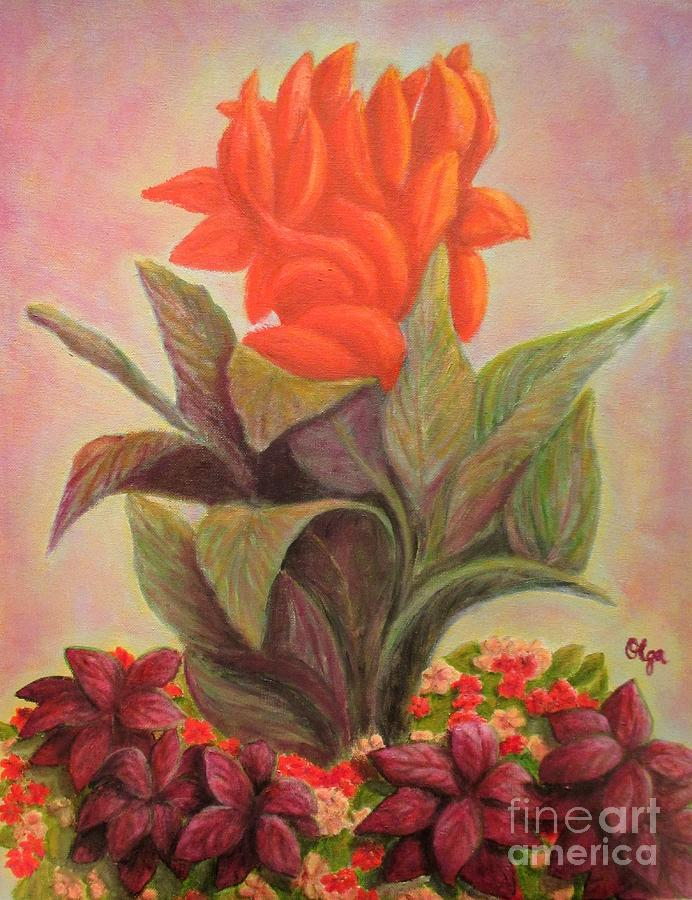 Canna and Coleus by Olga Silverman