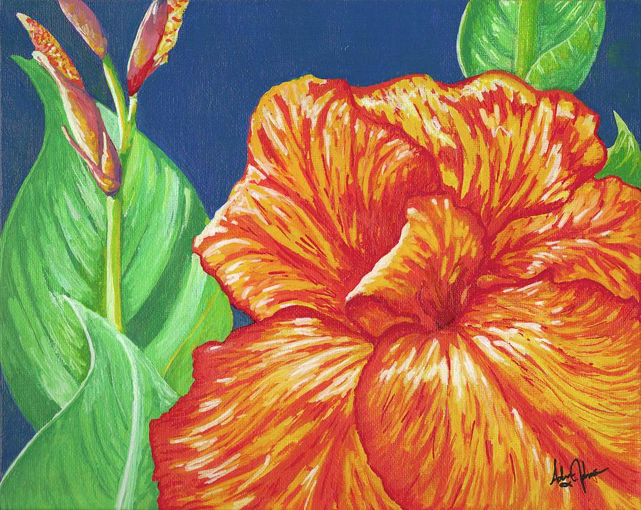 Canna Painting - Canna Flower by Adam Johnson
