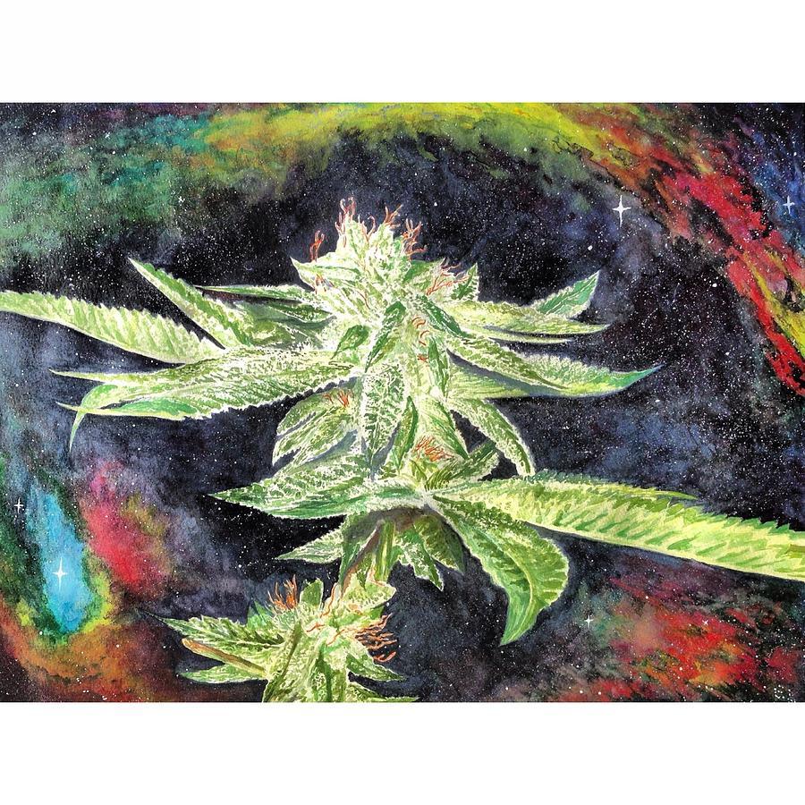 Cannabis Painting - Plant Life  by Eva Lu