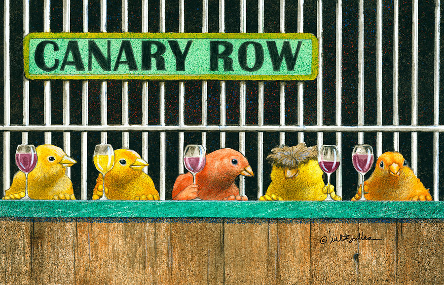 Will Bullas Painting - Canary Row by Will Bullas
