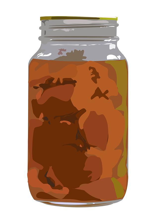 Homemade Digital Art - Canned Peaches by Robert Bissett