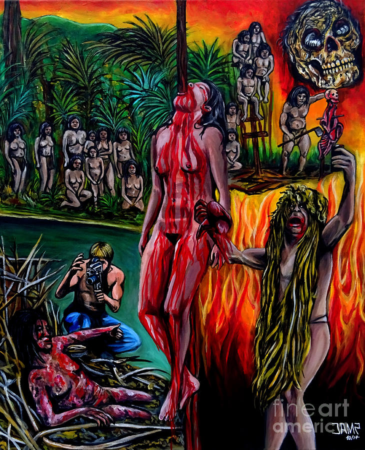 Cannibal Holocaust Painting - Cannibal Holocaust by Jose Mendez