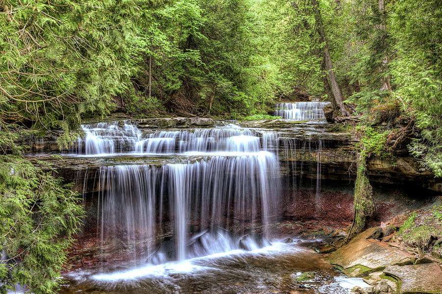 Waterfalls Photograph - Canning Falls  by Brian Boudreau