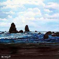 Cannon Beach Painting by Darla Boljat