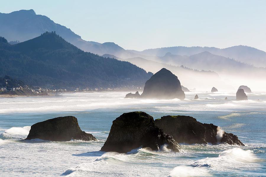 Cannon Beach Photograph - Cannon Beach on the Oregon Coast by David Gn