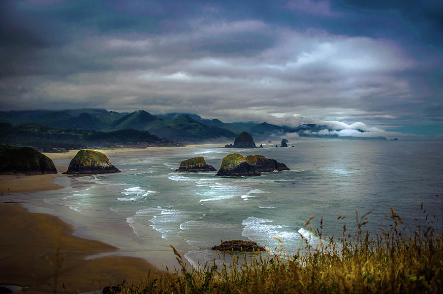 Ocean Photograph - Cannon Beach, Oregon by Shiela Kowing